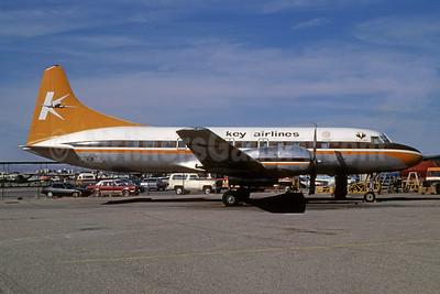 Key Airlines Convair 440-61 N27KA (msn 432) SLC (Bruce Drum). Image: 103066.
