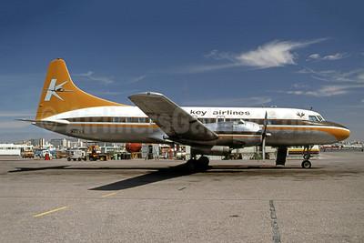 Key Airlines Convair 440-61 N27KA (msn 432) SLC (Fred Freketic). Image: 949529.