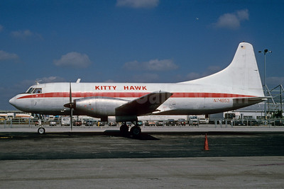 Kitty Hawk Airways (KHA) Convair 600 (F) N74853 (msn 164) MIA (Bruce Drum). Image: 102773.