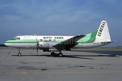 Kitty Hawk Airways (KHA) - General Air Services Convair 340-38 (F) N453GA (msn 117) (General colors) CVG (Christian Volpati Collection). Image: 950042.