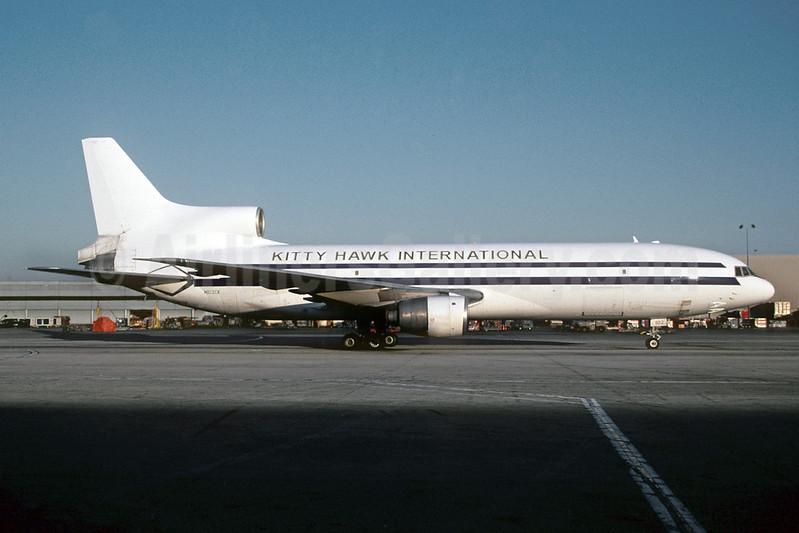 Kitty Hawk International (2nd) Lockheed L-1011-385-1-15 TriStar 200 N102CK (msn 1198) LAX (Roy Lock). Image: 911914.