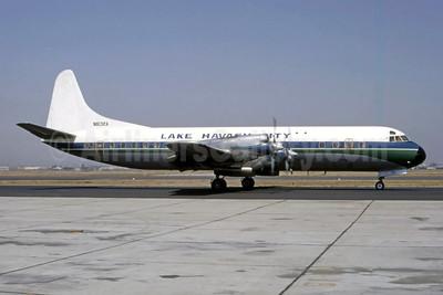 Lake Havasu City Lockheed 188A Electra N6132A (msn 1123) LAX (Bruce Drum Collection). Image: 947815.