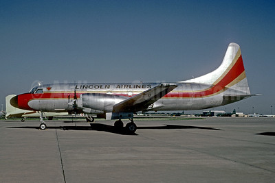 Lincoln Airlines Convair 580 N5816 (msn 126) (Great Western colors) OKC (Bruce Drum). Image: 103733.