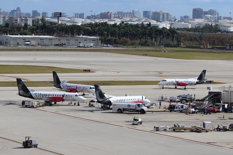 Silver Airways (3M) Saab 340B's at Fort Lauderdale base.