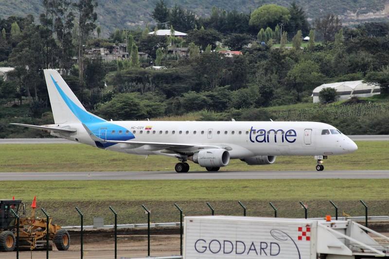 TAME Linea Aerea del Ecuador (EQ) HC-COY ERJ-190 LR [cn 19000373]