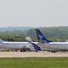 Bluebird Nordic (BO) TF-BBN B737-4B3 (F) [cn24751] and TF-BBK B737-4Q8 (F) [cn26302]