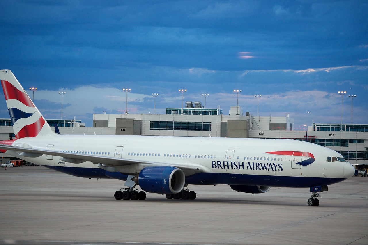 03 SEPT 2013: British Airways celebrates it's 15 year anniversary of serving Denver International Airport with a ceremony and reception at the gate at Denver International Airport in Denver, CO.  Stephen Nowland/Rich Clarkson and Associates, LLC