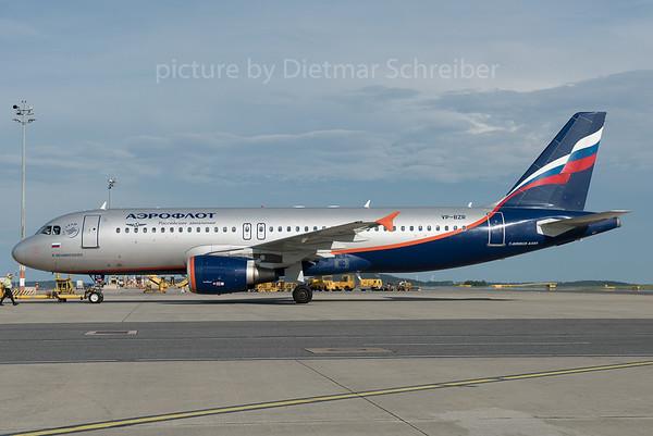 2016-07-05 VP-BZR Airbus A320 Aeroflot