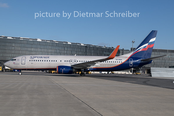 2019-02-05 VQ-BWD Boeing 737-800 Aeroflot