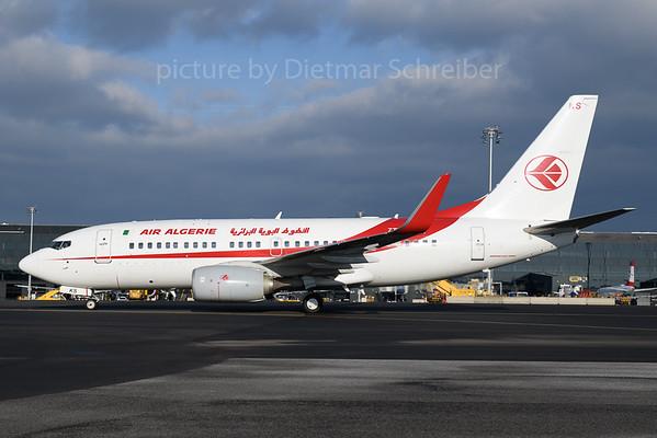 2017-12-06 7T-VKS Boeing 737-700 Air Algerie