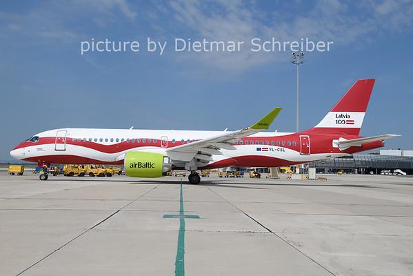 2021-08-12 YL-CSL Airbus A220-300 Air Baltic