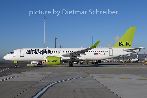 2019-12-11 YL-AAQ Airbus A220-300 Air Baltic