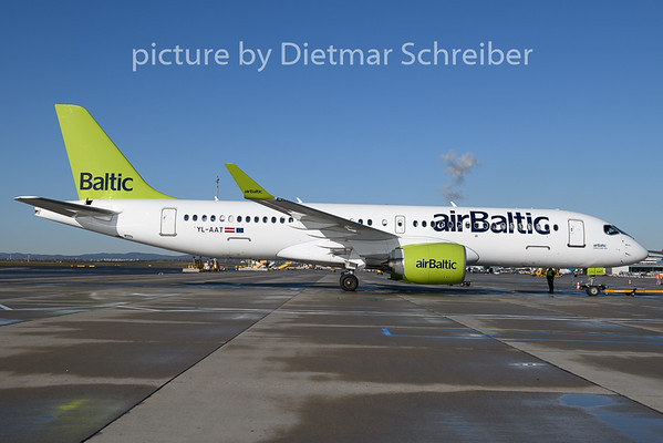 2019-11-06 YL-AAT Airbus A220-300 Air Baltic