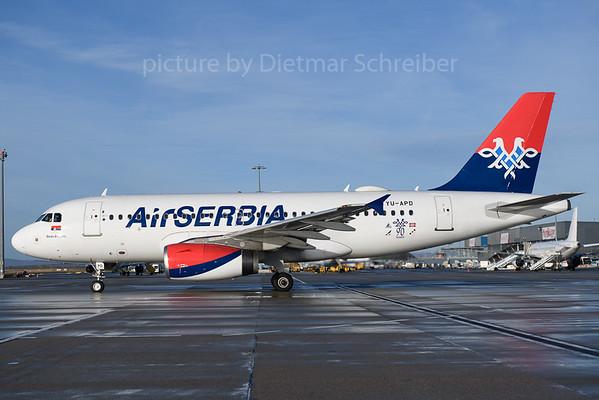 2018-01-05 YU-APD Airbus A319 Air Serbia