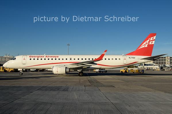 2017-10-15 4L-TGV Embraer 190 Georgian Airways