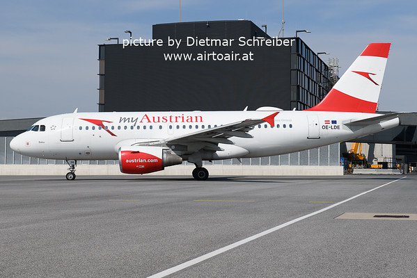 2021-05-22 OE-LDE Airbus A319 Austrian AIrlines