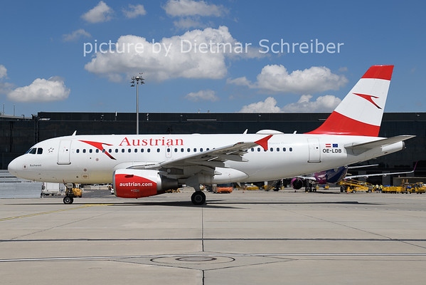 2021-08-03 OE-LDB Airbus A319 Austrian AIrlines