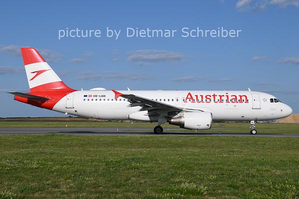 2021-08-25 OE-LBK AIrbus A320 Austrian Airlines