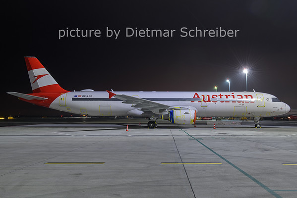 2020-12-17 OE-LBE Airbus A321 Austrian Airlines