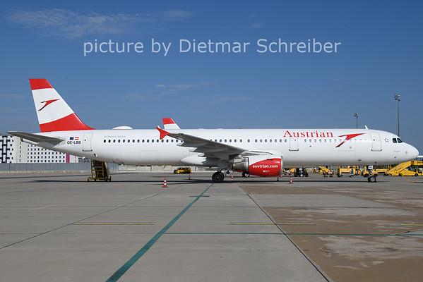 2021-07-28 OE-LBB Airbus A321 Austrian AIrlines