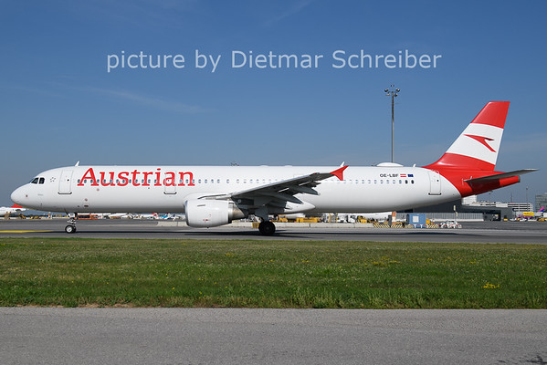 2021-08-13 OE-LBF Airbus A321 Austrian Airlines
