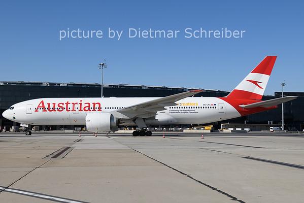 2021-06-13 OE-LPA Boeing 777-200 Austrian AIrlines