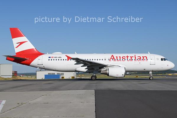 2021-06-13 OE-LBL AIrbus A320 Austrian Airlines