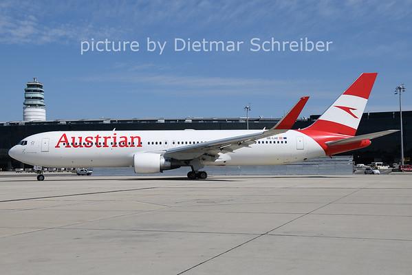 2021-08-11 OE-LAE Boeing 767-300 Austrian AIrlines