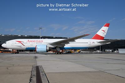 2021-09-14 OE-LPB Boeing 777-200 Austrian Airlines