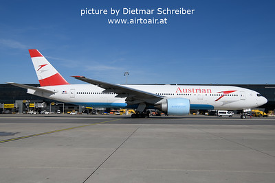 2021-10-15 OE-LPB Boeing 777-200 Austrian Airlines