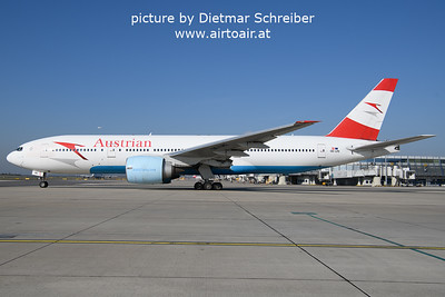 2021-10-17 OE-LPE Boeing 777-200 Austrian Airlines