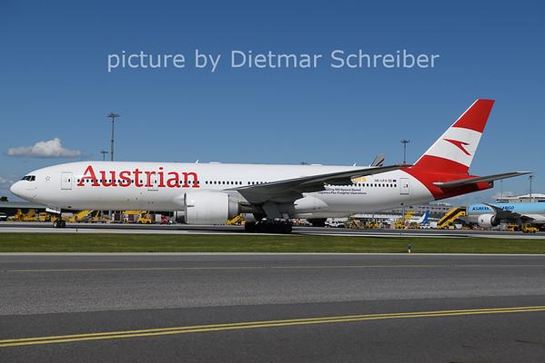 2021-05-16 OE-LPA Boeing 777-200 Austrian Airlines