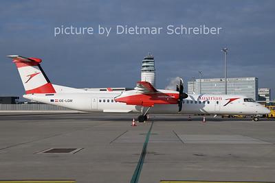 2021-01-08 OE-LGM Dash8-400 Austrian Airlines