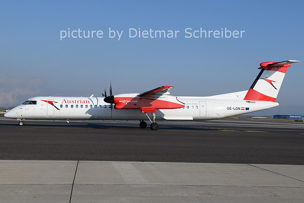 2021-01-08 OE-LGN Dash8-400 Austrian Airlines