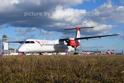 2021-02-04 OE-LGN Dash8-400 Austrian AIrlines