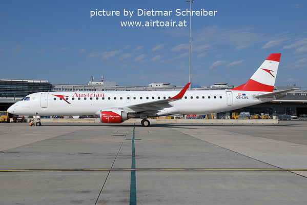2021-09-14 OE-LWL Embraer 195 Austrian Airlines