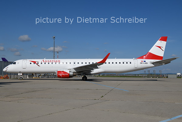 2021-05-29 OE-LWB Embraer 195 Austrian Airlines