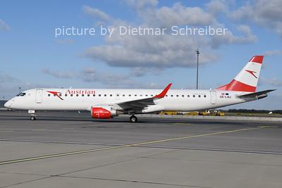 2020-11-20 OE-LWJ Embraer 195 Austrian Airlines