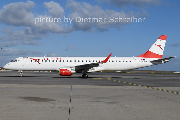 2020-11-20 OE-LWB Embraer 195 Austrian Airlines