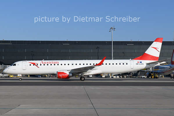 2021-01-11 OE-LWQ Embraer 195 Austrian Airlines