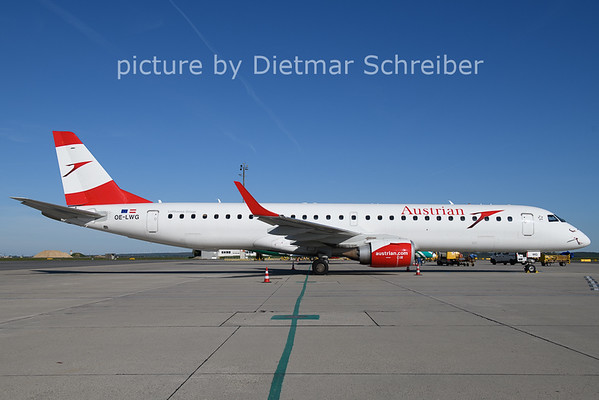 2021-05-09 OE-LWG Embraer 195 Austrian AIrlines