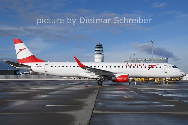2021-01-24 OE-LWL Embraer 195 Austrian AIrlines