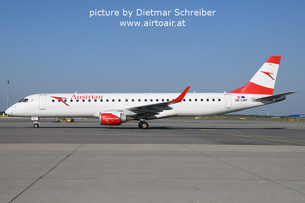 2021-10-09 OE-LWF Embraer 195 Austrian AIrlines