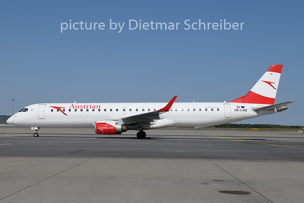 2020-09-20 OE-LWE Embraer 195 Austrian Airlines