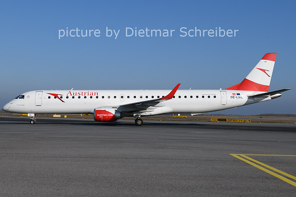 2021-01-11 OE-LWL Embraer 195 Austrian Airlines