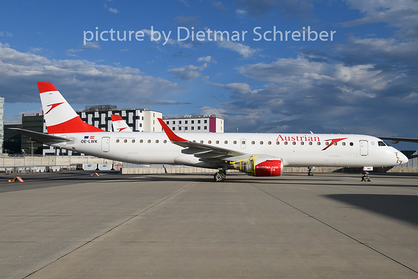 2020-06-26 OE-LWK Embraer 195 Austrian Airlines