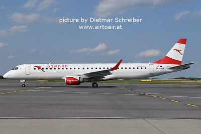 2021-08-20 OE-LWB Embraer 195 AUstrian AIrlines