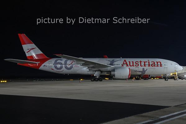 2021-01-22 OE-LPF Boeing 777-200 AUstrian Airlines
