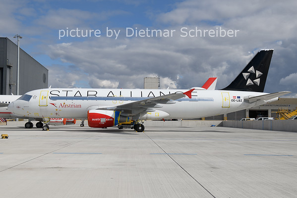 2021-03-22 OE-LBZ Airbus A320 Austrian Airlines