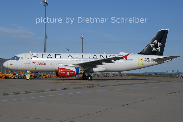 2021-07-27 OE-LBZ Airbus A320 Austrian AIrlines